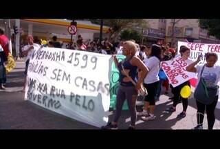 Aniversário de Teresópolis, RJ, tem atos da Educação e vítimas da Tragédia de 2011 - Grupos reivindicam reajuste dos salários e pagamento de Aluguel Social.