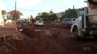 Pista da avenida Morangueira em Maringá é totalmente interditada - Na quinta-feira, prefeitura deve interditar a pista que vai dos bairros para o centro
