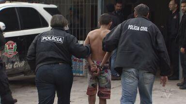 Polícia anuncia que preso durante operação é suspeito de assassinato - Ele teria matado um agente de trânsito em Peruíbe, no litoral de São Paulo.