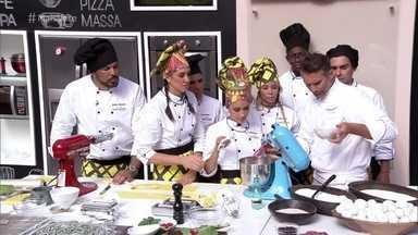 Workshop Massa Seca - Dentre outras coisas, o chef Paolo Lavezzini ensina os participantes do Super Chef 2016 a fazer massa com farinha de feijão
