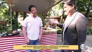 Zeca Camargo apresenta Jamie Oliver - O chef inglês fala de sua família