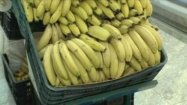 Procon diz que preço da banana aumentou 52% de um mês para o outro em SC - Procon diz que preço da banana aumentou 52% de um mês para o outro em SC
