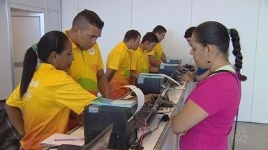 Ingressos para Olimpíada em Manaus começam ser vendidos ao lado da Arena da Amazônia - Jogos serão realizados na capital a partir do dia 04 de agosto.