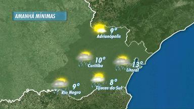 Previsão do tempo para o domingo - Deve chover! Veja os detalhes no mapa