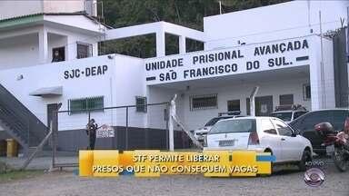 STF permire liberar presos que não conseguem vagas - STF permire liberar presos que não conseguem vagas