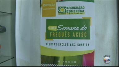 'Semana do Freguês' oferece produtos com até 50% de desconto em São Carlos - Campanha é uma estratégia da Associação Comercial para alavancar as vendas na cidade.
