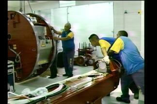 Novo equipamento para tratamento de radioterapia - O acelerador linear foi instalado no hospital Vida e Saúde em Santa Rosa, RS