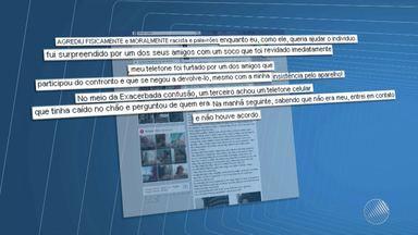 Jovem acusado de agredir músico se defende em rede social - O caso foi no Rio Vermelho, em Salvador. O jovem publicou na rede social uma outra versão do caso; confira os detalhes.