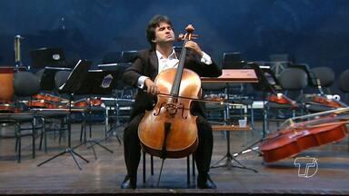 Concerto da Orquestra Filarmônica de Santarém tem participação do solista Diego Carneiro - Evento foi realizado na Casa da Cultura.