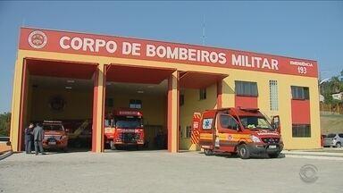 Projeto de vila de segurança em Biguaçu tem apenas a base dos bombeiros entregue - Projeto de construção de vila de segurança em Biguaçu tem apenas a base dos bombeiros entregue