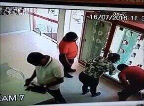 Câmeras de segurança flagram ação de criminosos em Gurupi - Câmeras de segurança flagram ação de criminosos em Gurupi