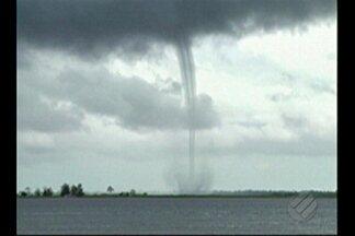 Meteorologistas analisam fenômeno que assustou passageiros de embarcação no rio Tocantins - O tornado em dimensão reduzida é mais comum no mar, mas também pode ocorrer nos rios da Amazônia.