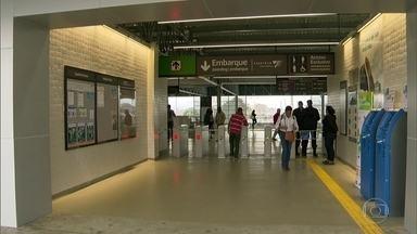 Estação de trem de Deodoro é inaugurada - A estação vai receber o público que deve acompanhar os jogos olímpicos no Parque Radical. Entre as novidades estão as escadas rolantes ligando as plataformas ao mezanino, elevadores para pessoas com deficiência e novas catracas.