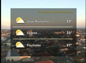 Temperaturas devem subir no final de semana - Veja as previsões para algumas cidades.