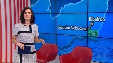 Ônibus com destino ao Rio de Janeiro é assaltado durante passagem pela Mata Sul de PE - Coletivo foi assaltado na noite da última quinta (22) por quatro homens armados