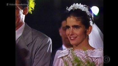 Malu Mader conta que não chegou a se casar com Tony Bellotto: 'Eu coloco solteira' - 'Vídeo Show' acompanha preparação da atriz para se vestir de noiva em 'Haja Coração'