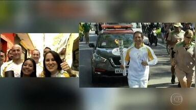 Tramontina participa de desfile da tocha Olímpica em Guarulhos - O apresentador do SPTV teve o privilégio de participar do desfile da tocha Olímpica em Guarulhos. Tramontina disse que a experiência foi emocionante.