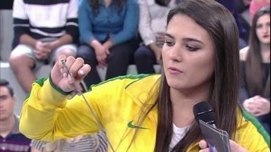 Esgrimista Amanda Simeão fala sobre Olimpíada - A atleta conta um pouco dos detalhes de sua modalidade