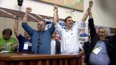 PTN decide em convenção não lançar candidatura própria para as eleições em Belo Horizonte - O Partido Trabalhista Nacional realizou convenção na manhã deste domingo, na Câmara Municipal da capital. A legenda decidiu apoiar o pré-candidato do PMDB à prefeitura, Rodrigo Pacheco.