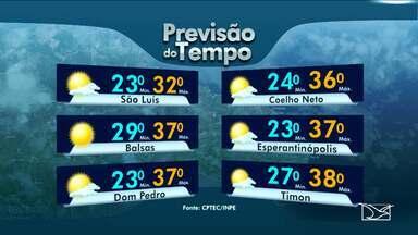 Veja como fica a previsão do tempo para esta segunda-feira (25) no Maranhão - Veja como fica a previsão do tempo para esta segunda-feira (25) no Maranhão.