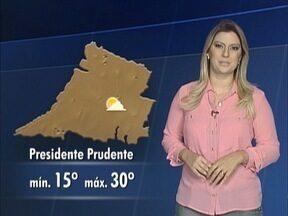 Débora Andreatto conta como ficam as temperaturas nesta terça-feira - Saiba qual é a previsão do tempo.