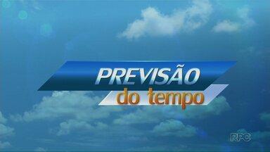 Tempo pode mudar a partir de terça - Até quinta-feira temperatura cai em Maringá