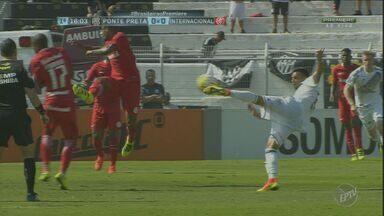Ponte Preta empata por 2 a 2 partida com o Internacional - Jogo ocorreu no último domingo (24), no Moisés Lucarelli.