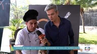 Otaviano Costa conversa ao vivo com semifinalistas do Super Chef Celebridades - Prova 'Gourmet na Brasa' acontece nos Estúdios Globo e o resultado será conhecido nesta quarta-feira, no 'Mais Você'