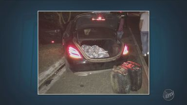Carro com assaltantes bate em caminhão na altura de Andradas - No veículo estavam assaltantes e dois motoristas de caminhões tanque vítimas de roubo.