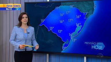 Tempo: quinta-feira (28) será de clima seco no RS - Temperaturas não passam dos 20ºC.