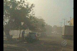 Clima seco aumenta o número de incêndios em Marabá - Uma fumaça negra encobre a cidade por conta das queimadas na região