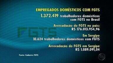 Número de empregados domésticos com FGTS cresce no país - Número de empregados domésticos com FGTS cresce no país.