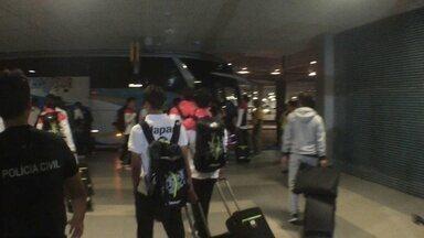 Japão desembarca em Manaus após derrota em amistoso para o Brasil - Delegação estreia na Olimpíada dia 4 de agosto