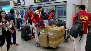 Delegações estrangeiras não param de chegar no Rio - Somente neste domingo (31), a previsão era de chegada de 400 atletas.