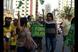 Manifestantes foram às ruas para pedindo o impeachment da presidente Dilma Rousseff - Manifestantes foram às ruas para pedindo o impeachment da presidente Dilma Rousseff