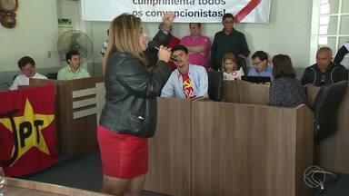 PT lança Cristina Lopes como candidata à Prefeitura de São João del Rei - Convenção foi realizada na noite deste domingo (31) na Câmara Municipal. Ao todo, 50 vereadores concorrem pela coligação.