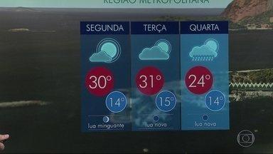 Rio de Janeiro tem previsão de calor para a abertura da Olimpíada - Na próxima quarta-feira (3) há previsão de chuva.