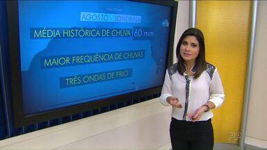 Agosto começa com temperaturas em elevação e previsão de chuva em maior volume - A meteorologia também prevê mais frentes frias no Paraná. Veja a previsão do tempo para hoje e os próximos dias em Londrina e na região.