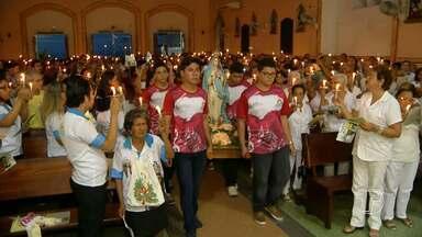 Missa de bênção da imagem peregrina da Conceição é celebrada em Santarém - Centenas de fiéis católicos participaram da celebração.
