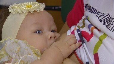 Semana Mundial de Aleitamento Materno é realizada no AM - Ações incentivam a amamentação de bebês.