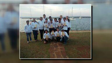 Alunos do Velejar é preciso voltam com 9 troféus de competição na Argentina - A competição foi em Posadas, neste fim de semana.