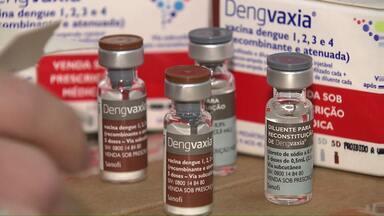 Campanha de vacinação contra a dengue começa no dia 13 de agosto - Hoje começaram a chegar os primeiros lotes da vacina.