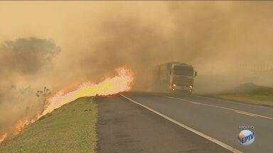 Confira dicas para evitar acidentes em situações de queimadas nas rodovias - Diminuir a velocidade é o primeiro passo se o motorista enfrentar um incêndio na beira de uma rodovia.