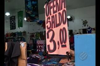 Comércio faz promoções para atrair consumidores em Belém - Comércio faz promoções para atrair consumidores em Belém
