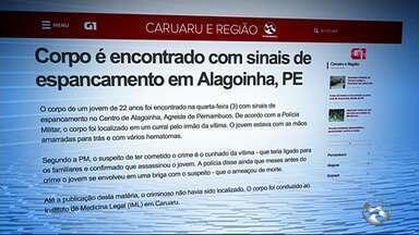 Corpo é encontrado com sinais de espancamento em Alagoinha - Vítima estava com as mãos amarradas para trás e com vários hematomas.