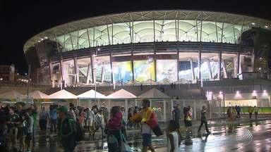 Jogos de futebol da Olimpíada 2016 alteram a rotina da capital baiana - A Arena Fonte Nova vai receber dez partidas de futebol. As primeiras estão sendo realizadas nesta quinta (4). São elas: Fiji x Coreia do Sul e México x Alemanha.
