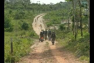 PM cumpre reintegração de posse em Fazendo Yoshino - Propriedade fica numa agrovila, na zona rural de Castanhal.