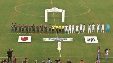Santos e Flamengo ficam no empate na Arena Pantanal e famílias se dividem na torcida - Santos e Flamengo ficam no empate na Arena Pantanal e famílias se dividem na torcida