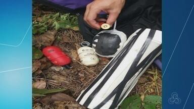 Munições e explosivos são encontrados próximo a presídio de Manaus - Área em torno do Compaj foi isolada por equipes Marte, em Manaus.