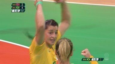 Duda Amorim coloca o Brasil na frente com golaço no Handebol Feminino - Duda Amorim coloca o Brasil na frente com golaço no Handebol Feminino